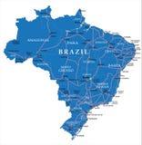 Mappa del Brasile Immagine Stock