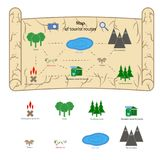 Mappa del campo da giuoco del ` s dei bambini fotografie stock