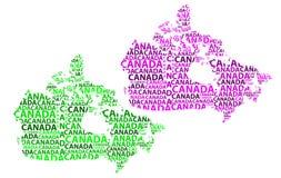 Mappa del Canada - illustrazione di vettore Fotografia Stock