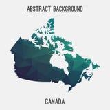 Mappa del Canada in poligonale geometrico, stile del mosaico Immagine Stock Libera da Diritti