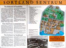 Mappa del centro di Sortland Fotografia Stock Libera da Diritti