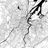 Mappa del centro di vettore di Belfast Fotografie Stock