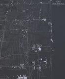 Mappa del Fort Lauderdale, vista satellite Stati Uniti Fotografia Stock