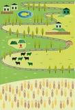 Mappa del fumetto Fotografia Stock