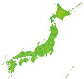 Mappa del Giappone Fotografie Stock