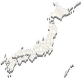 Mappa del Giappone Immagine Stock