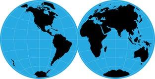 Mappa del globo Immagine Stock