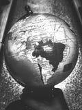 Mappa del globo in bianco e nero Fotografia Stock Libera da Diritti