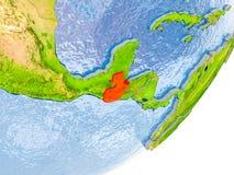 Mappa del Guatemala su terra Fotografie Stock