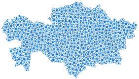 Mappa del Kazakistan Fotografia Stock Libera da Diritti