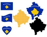 Mappa del Kosovo Immagini Stock