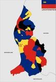 Mappa del Liechtenstein Fotografia Stock