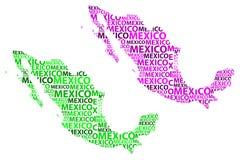 Mappa del Messico - illustrazione di vettore Immagini Stock Libere da Diritti