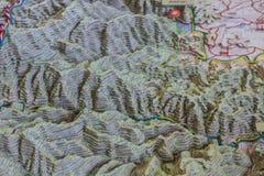 mappa del modello 3D geografica Immagini Stock