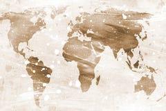 Mappa del mondo Immagini Stock