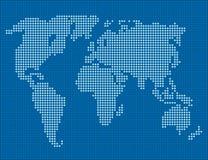 Mappa del mondo Fotografia Stock
