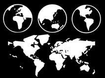 Mappa del mondo Fotografie Stock Libere da Diritti