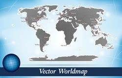 Mappa del mondo Fotografia Stock Libera da Diritti