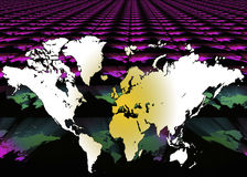 Mappa del mondo - fondo di Digital Fotografia Stock