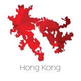 Mappa del paese di Hong Kong immagini stock libere da diritti