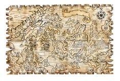Mappa 3 del pirata Fotografia Stock