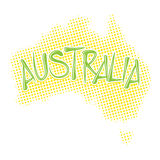 Mappa del semitono dell'Australia Fotografia Stock Libera da Diritti