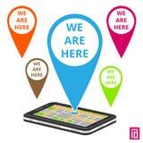 Mappa del telefono Fotografia Stock Libera da Diritti