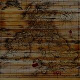Mappa del tesoro del pirata fotografie stock libere da diritti