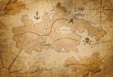 Mappa del tesoro del pirata royalty illustrazione gratis