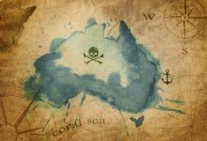 Mappa del tesoro del pirata illustrazione vettoriale