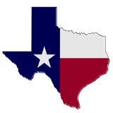 Mappa del Texas Fotografia Stock