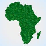 Mappa dell'Africa da erba Immagini Stock Libere da Diritti