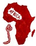 Mappa dell'Africa e del virus di Ebola Immagini Stock