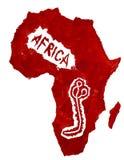 Mappa dell'Africa e del virus di Ebola Fotografia Stock