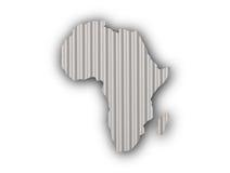 Mappa dell'Africa su ferro ondulato Fotografie Stock Libere da Diritti