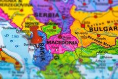 Mappa dell'Albania Tirana fotografia stock libera da diritti