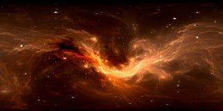 Mappa dell'ambiente 360 HDRI di realtà virtuale Proiezione equirectangular dello spazio, panorama sferico Nebulosa dello spazio c Royalty Illustrazione gratis