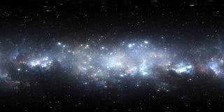 Mappa dell'ambiente 360 HDRI di realtà virtuale Proiezione equirectangular dello spazio, panorama sferico Nebulosa dello spazio c Illustrazione di Stock