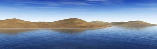 Mappa dell'ambiente, mappa di alta risoluzione di HDRI Panorama rotondo, panorama sferico, oasi equidistante nel deserto Fotografia Stock