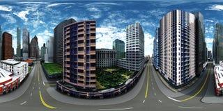 Mappa dell'ambiente, paesaggio urbano di HDRI Fotografia Stock