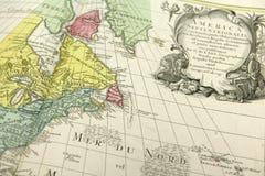 Mappa dell'America con i vecchi confini fotografia stock