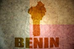 Mappa dell'annata del Benin Fotografia Stock Libera da Diritti