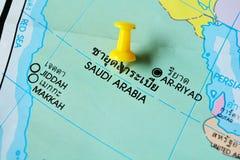 Mappa dell'Arabia Saudita fotografie stock libere da diritti