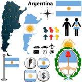 Mappa dell'Argentina Immagine Stock Libera da Diritti