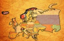 Mappa dell'associazione europea di libero scambio Fotografia Stock