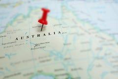 Mappa dell'Australia Fotografia Stock Libera da Diritti
