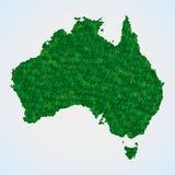 Mappa dell'Australia da erba Immagini Stock