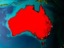 Mappa dell'Australia su terra Immagini Stock Libere da Diritti
