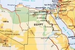 Mappa dell'Egitto Immagine Stock