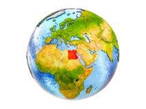 Mappa dell'Egitto su terra 3D isolata royalty illustrazione gratis